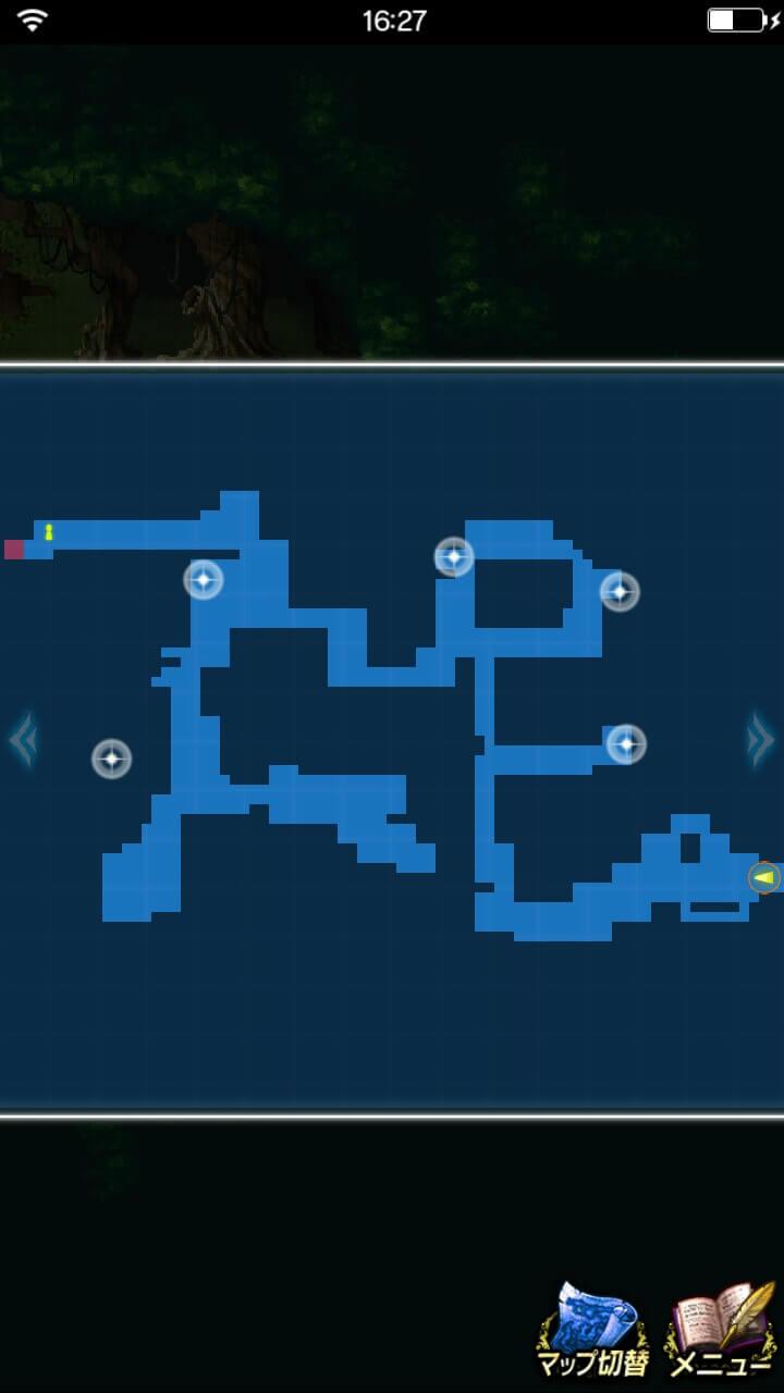 幻のチョコチョコボを守れ!探索マップ2