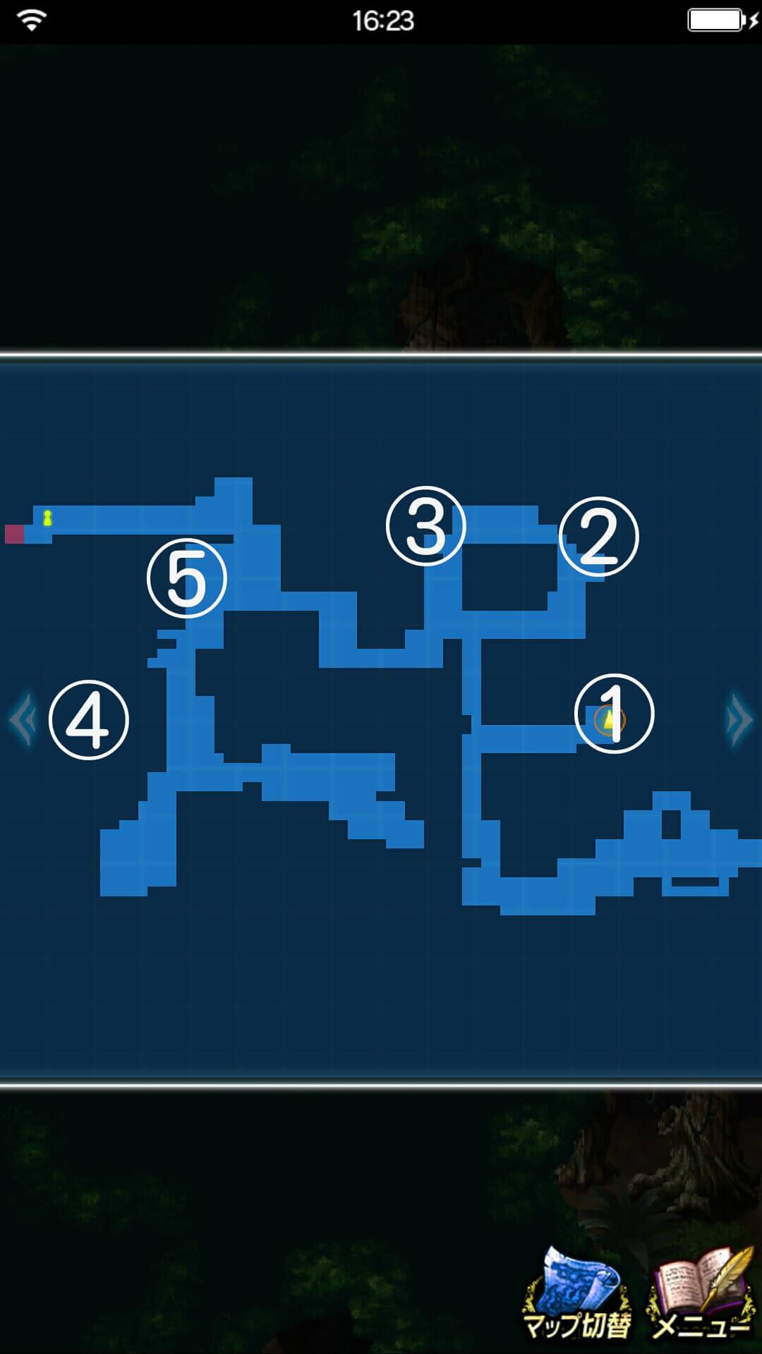 幻のチョコチョコボを守れ!探索マップ4