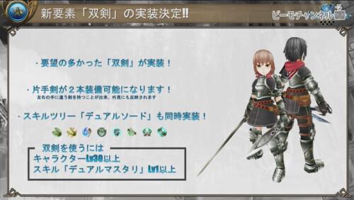 新要素「双剣」の実装決定!!