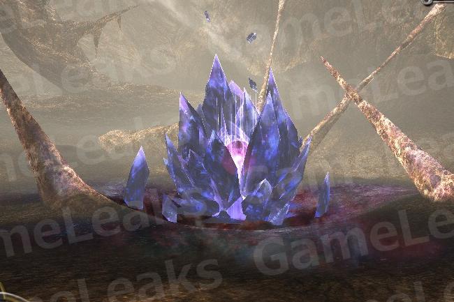 不気味な結晶(カウウス地峡・竜洞穴)