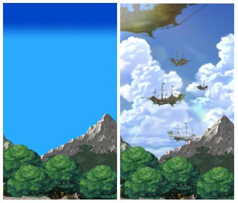 飛空艇シーン比較