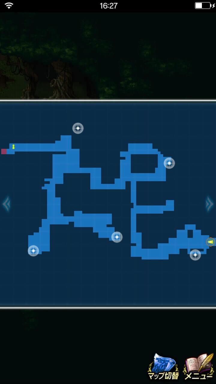 幻のチョコチョコボを守れ!探索マップ1