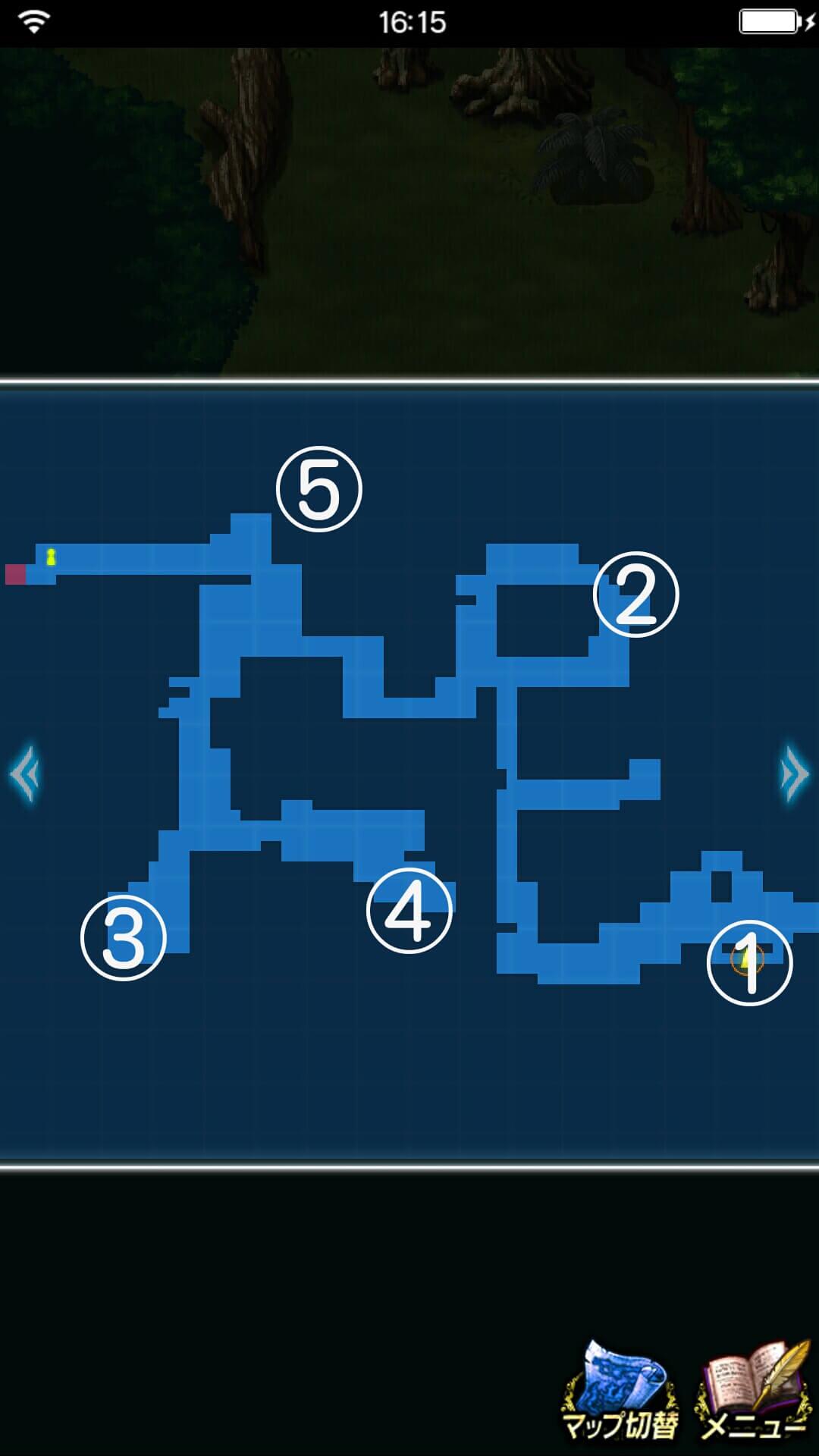 幻のチョコチョコボを守れ!探索マップ3